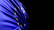 European Union Flag HD, PAL, NTSC, alpha included, looping video