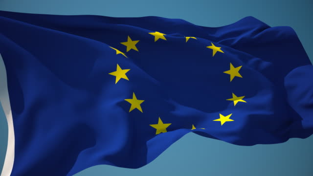 4K European Union Flag - Loopable video