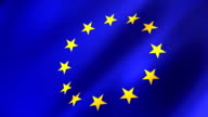 European Union Flag Video Background HD1080 video