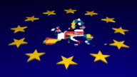 European Union Flag video