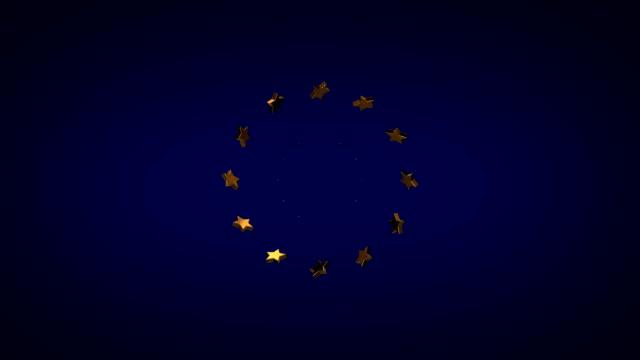 European Union Symbol, Loopable Video video