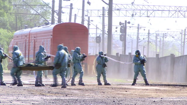 Evacuation Team in Chemical Disaster video