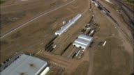 Evanston Railway Lines - Aerial View - Wyoming, Uinta County, United States video