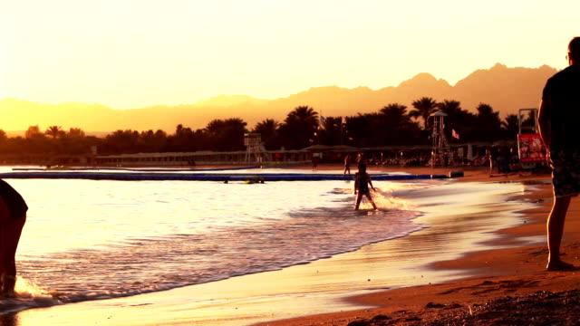 evening beach video