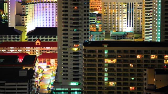 Evening city timelapse video