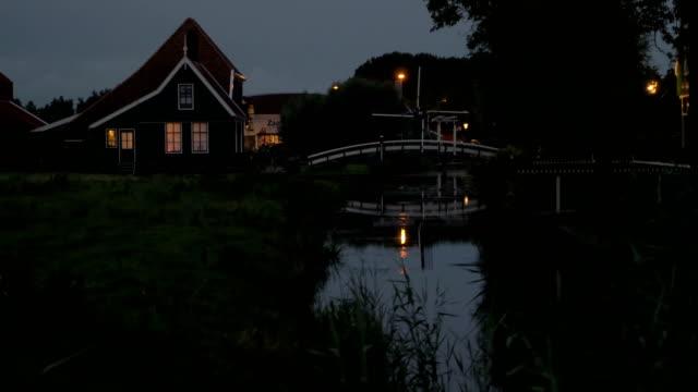 Evening in Dutch village video