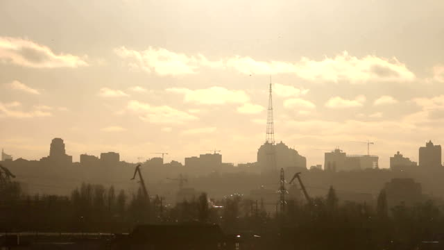 Evening Landscape Of The Kiev video