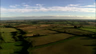 Evening Light On Landscape  - Aerial View - England, Central Bedfordshire, Cranfield, United Kingdom video