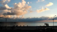Evening on the sea, summertime. Time lapse. video