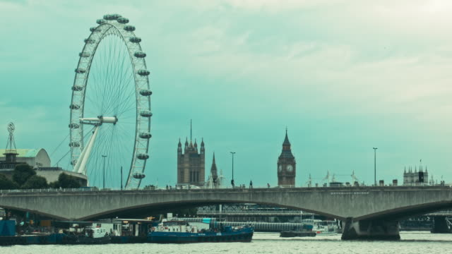Evening on the Thames, London and the Big Ben video