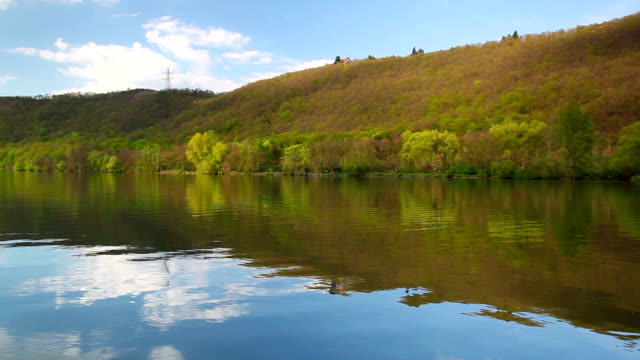 Evening reflection on the Vltava river video