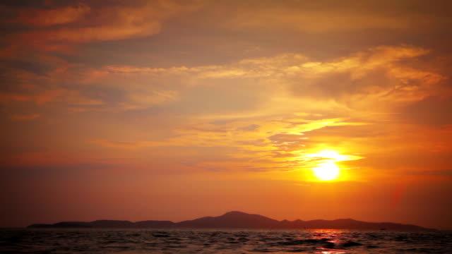 Evening sea video