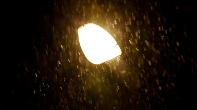 Evening Snowfall and lantern video