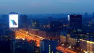 Evening traffic jam in Moscow time lapse, Leningradsky prospekt, February 2016 video