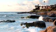 Evening View of Rocky Pacific Coastline video