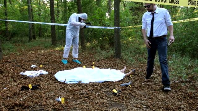 Evidence searching on murder scene video