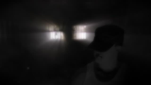evil man in  darkness HD video