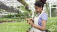 Examining Her Plants video