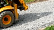 Excavator Carries Gravel In The Bucket video