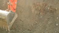 Excavator on the work video