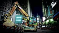 Excavator on time square video