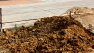 excavator tractor working in construction site video