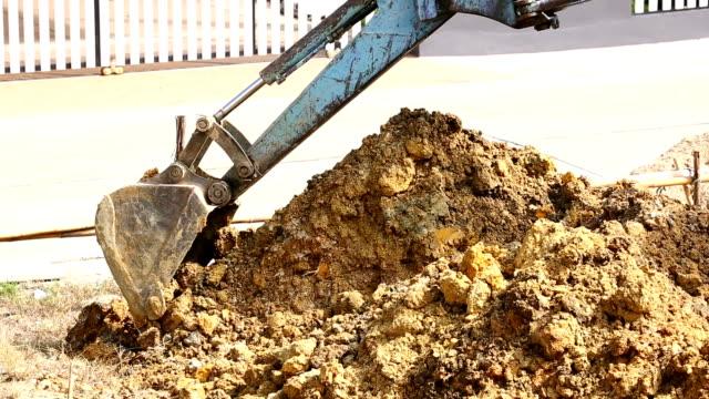 excavator tractor working video