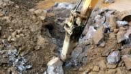 Excavator working video