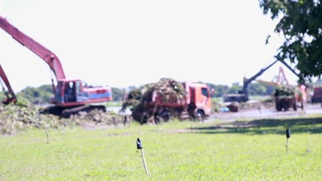 Excavators and truck video