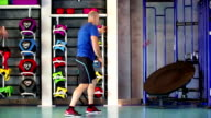 Excercising Gym Health Club Fitness Caucasian Male video