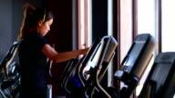 Excercising Gym Health Club Fitness Thai Woman video