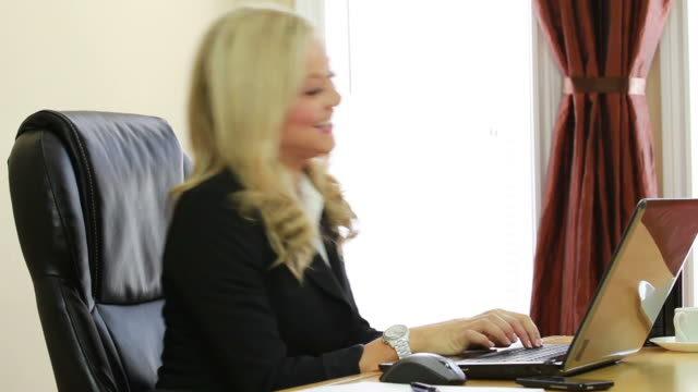Excited business female video