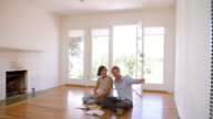 Excited Couple Planning Decoration Of New Home video
