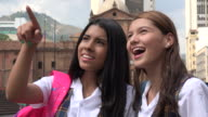 Excited Female Teen Students video