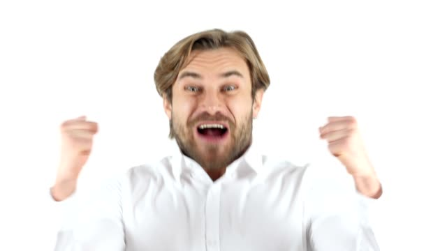Excited Man Celebrating Success video