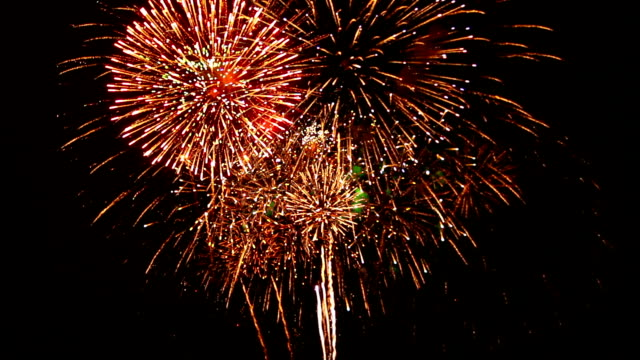 Exciting Firework with Sound and Cheering Crowd Audio video