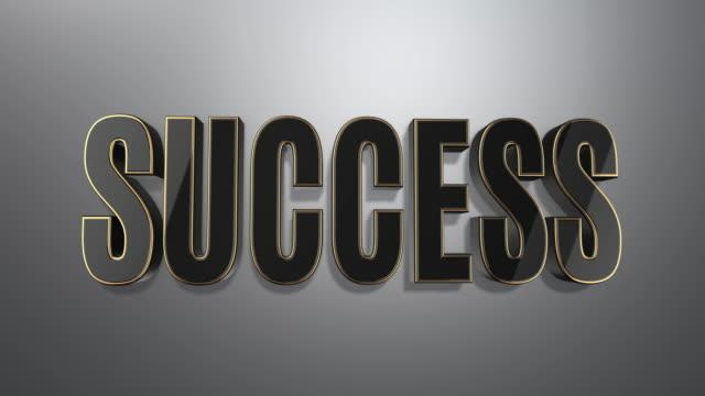 Exclusive Success Concept in 3D Text Minimal Design video
