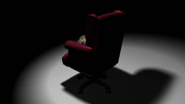 Executive Chair Earth (HD Loop) video