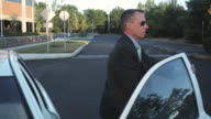 HD CRANE: Executive going to work video