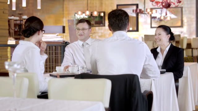 HD: Executives Having A Business Lunch video