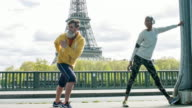 Exercises routine after running in Paris video