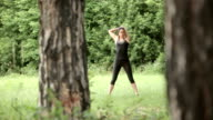Exercising in nature video