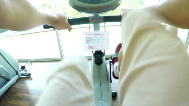 Exercising in sport club video