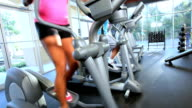 Exercising on Cross Trainers video
