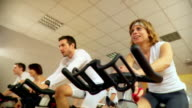 HD: Exercising On Spinning Bikes video