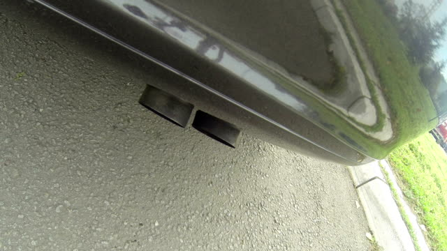 Exhaust pipe from car video