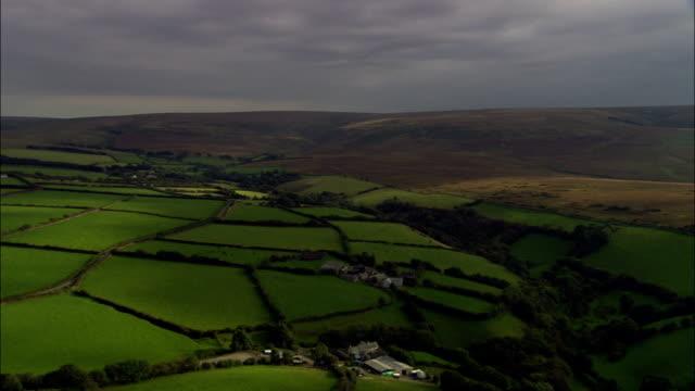 Exmoor  - Aerial View - England, Devon, North Devon District, United Kingdom video
