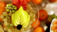 Exotic fruit decoration table video
