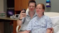 Expecting Couple Doing Video Chat On Smart Phone In Hospital video
