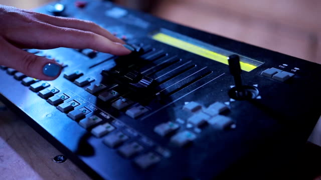 Expert Adjusting Audio Mixing Console video